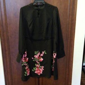 Memorable Effort A-Line Liza Luxe Black Pink Dress